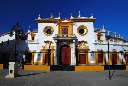 sevilla: Plaza de los toros in Sevilla, Spanje