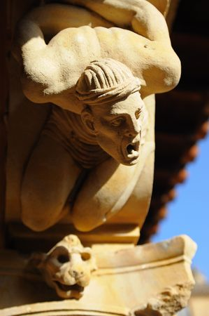 convento: Architectural detail, Cloister of Convento de las Duenas, Salamanca, Spain Stock Photo