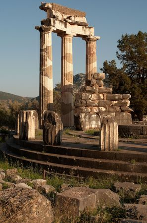 The tholos of Athena Pronaia, Delphi, Greece photo