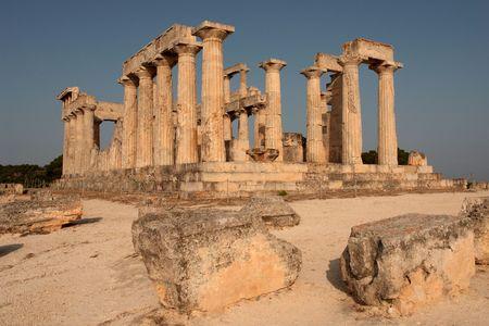 The sanctuary of Aphaia at Aegina island, Greece photo