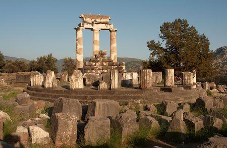 delfi: The sanctuary of Athena Pronaia, Delphi, Greece Stock Photo