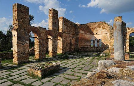 Agios Achillios basilica, Prespa lake, Greece photo