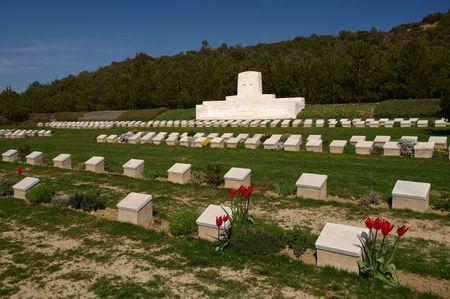 armistice: 7 th Field Ambulance Military Australian Cemetery in Gallipoli, Turkey Stock Photo