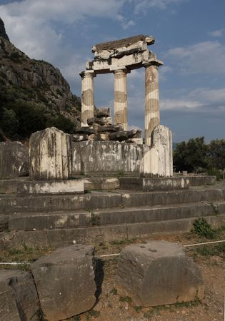 Athena Pronoia temple, Delphi, Greece photo