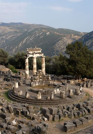 Tholos of Athena Pronoia, Delphi, Greece photo