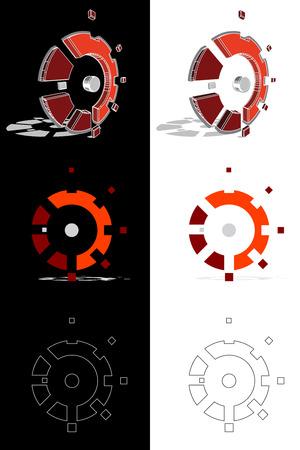 Mechanic gear evolution Illustration