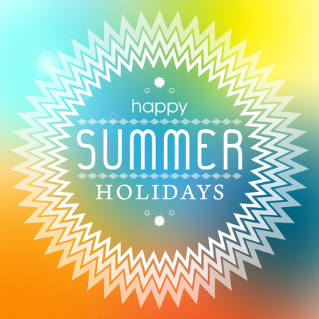 hollidays: Summer hollidays typography poster vector background Illustration
