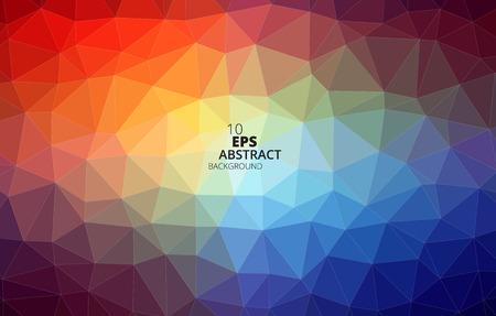 다채로운 삼각형 추상적 인 배경 벡터 일러스트