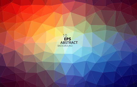 Colorful Triangles Abstract Background vector  Vector