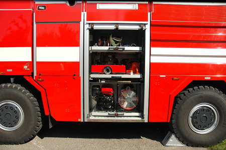 fire truck with equipement photo