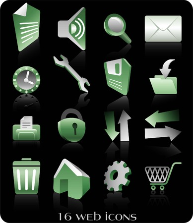retrieve: sheet, list, sound, zoom, email, message, settings, store, save, retrieve, print, time, clock, block, arrow, right, left, up, down, trash, home, configuration, buy, web icons