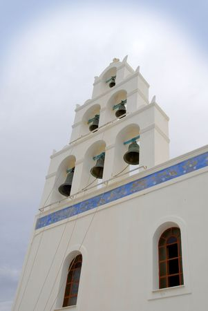 Church tower with bells in Greece Stock Photo - 2344316
