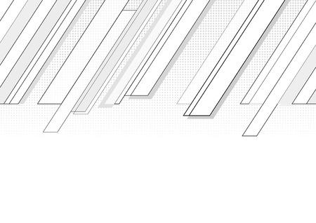 Seguimiento de diagonal esquina gris gráfico con semitonos.  Ilustración de vector