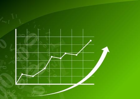 desarrollo econ�mico: Gr�fico verde est� subiendo.