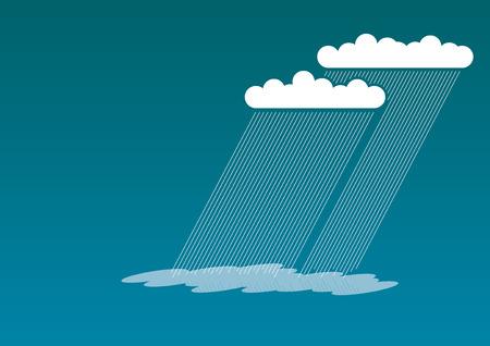 rainy sky: Imagen simple de lluvias nubes en el cielo azul.