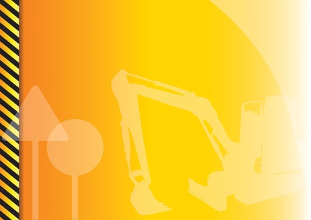 Orange background with construction symbols. Stock Vector - 5803155