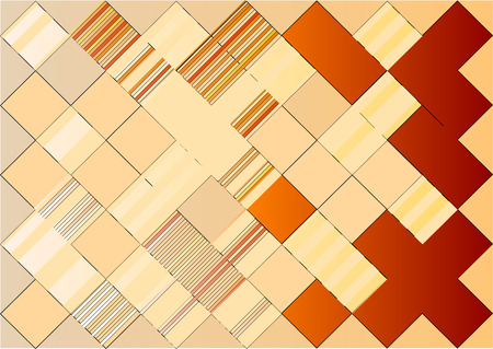 Abstract mosaic background in orange color. Vector