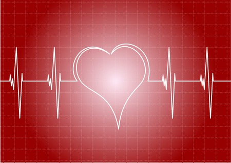 Heart diagram with line heart. Vector