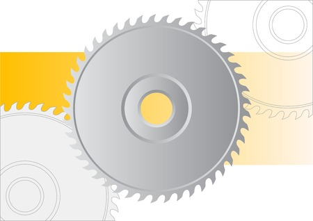 Circular saw isolated on the white. Stock Vector - 6177086