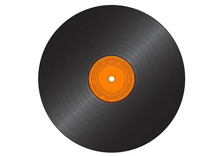 gramophone record isolated on the white. Vector