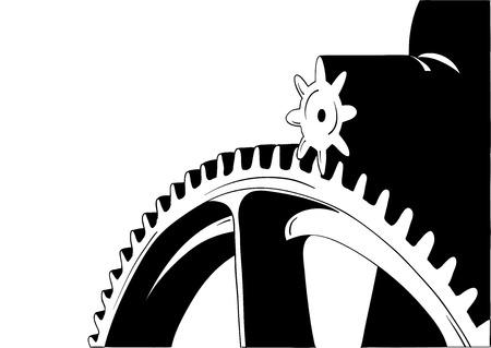 cogwheel: Big cogwheel isolated on the white.
