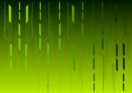 Green vector background with shapes. Vector