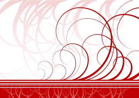 Swirl  background in red color Stock Vector - 6672006