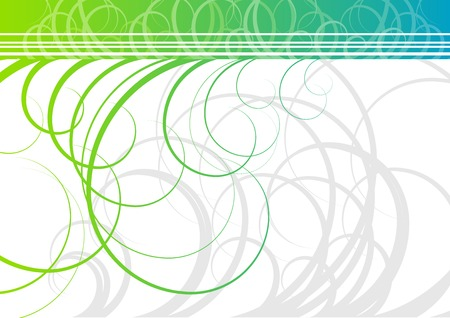 Swirl background in green color Vector