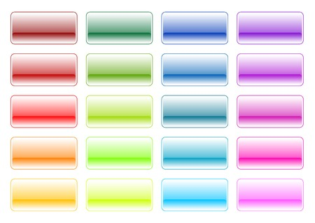 lila: Glossy buttons in various color