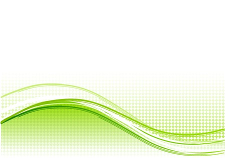 Green wave background with lines Stock Vector - 6758655
