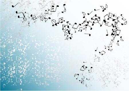 sfondo blu musica con note