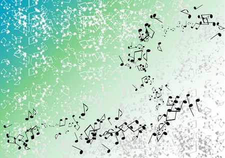 Blue and green music background Stock Vector - 6758657