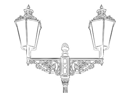 Baroque lamp isolated on the white Stock Vector - 6758668