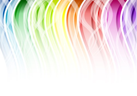 Rainbow color background with white Stock Vector - 6823962
