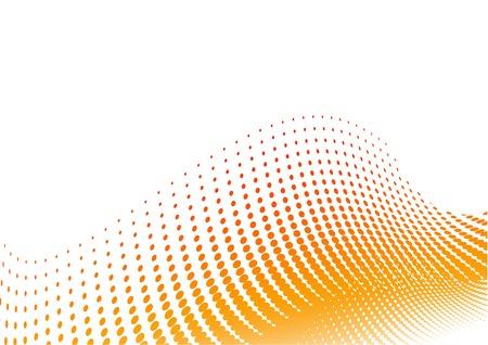 Arrière-plan de demi-teinte orange sur le blanc  Vecteurs