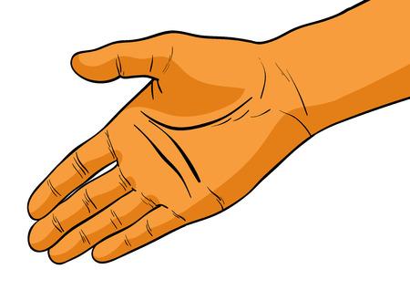manos abiertas: simple mano aislado en el blanco