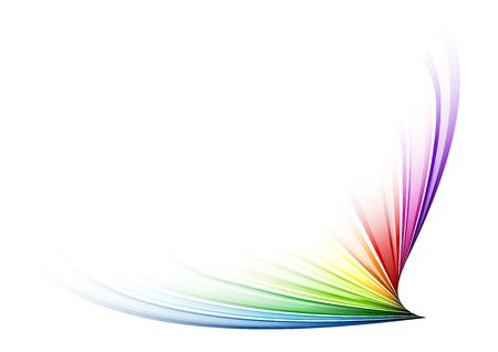 Rainbow shape on the white Vector