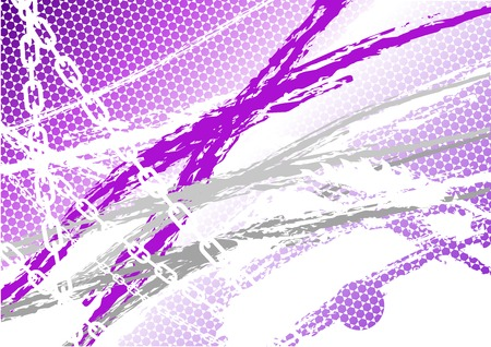 lila: Magenta industrial background with chain Illustration