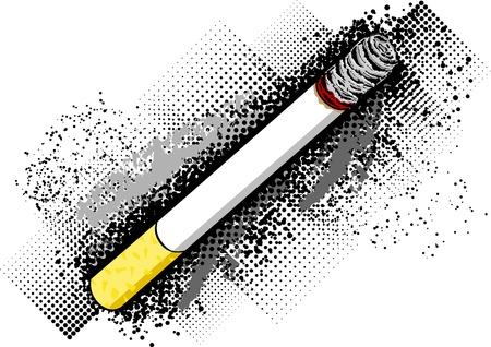 Cigarette on the dark background Vector