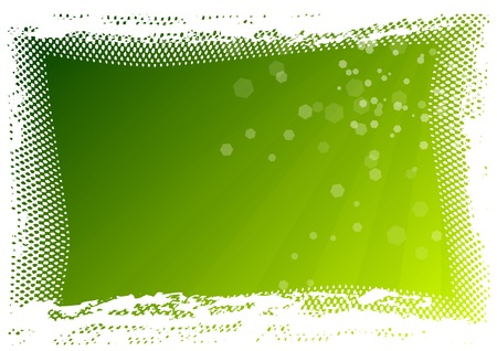 Green background as halftone frame Vector