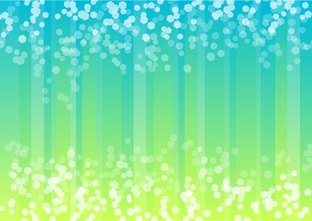 blue spotted: Blue and green background with hexagon