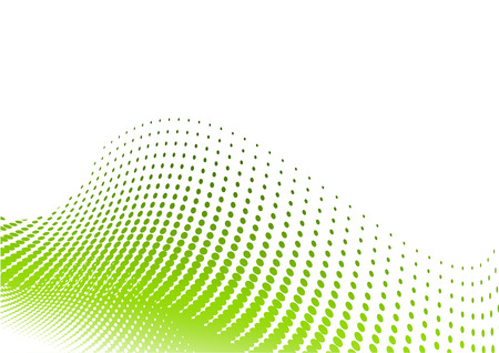 gradation: Green halftone background on the white Illustration
