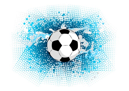 blue abstract background with ball Vector