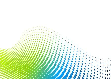 half and half: Fondo de medios tonos de verde y azul