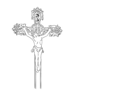 simple black sketch of crucified Stock Vector - 7553975