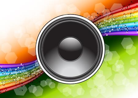 speaker on the full color background Vector