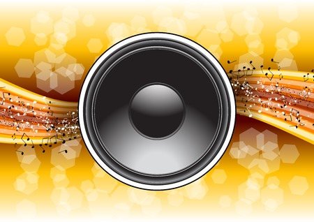 speaker on the gold background Vector