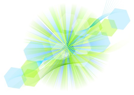green and blue explosive on the white Stock Vector - 7669231