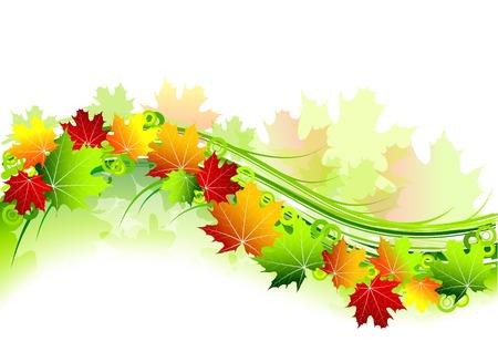 autumn theme on the white