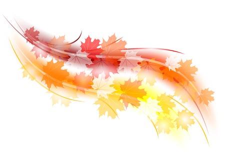 forma rosso e arancione autunno Vettoriali